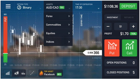 IQ Option - All in One Screen