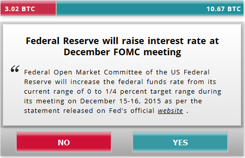 Bitbet - Bet on December Fed Funds Rate Decision