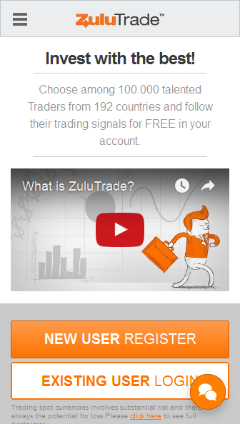 ZuluTrade Mobile Version