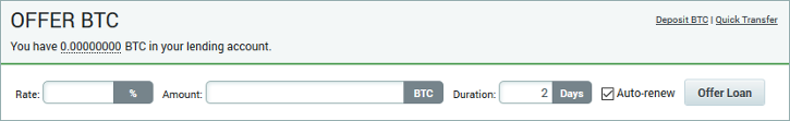 Poloniex - Offer BTC