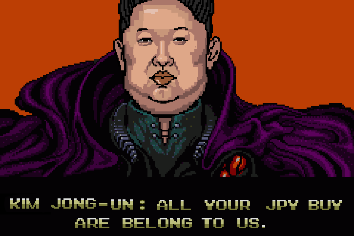 Kim Jong-un: All your JPY buy are belong to us