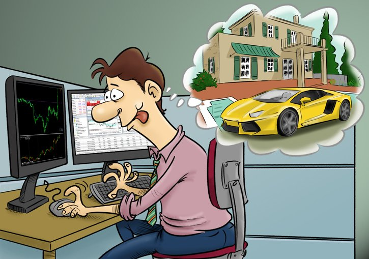A Forex trader is dreaiming of a luxury lifestyle