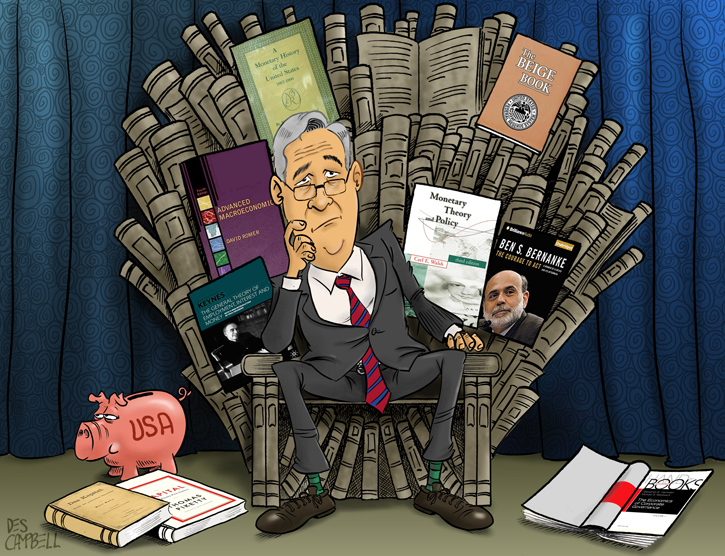 Jerome Powell on a Monetary Policy Throne