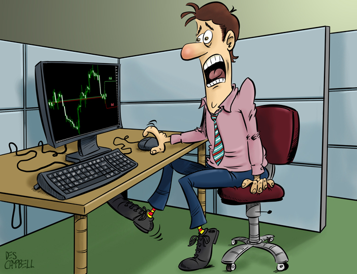 A Forex trader is horrified by the widened Bid/Ask spread