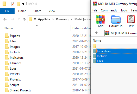 Copying Product Subfolders into MQL4 Folder